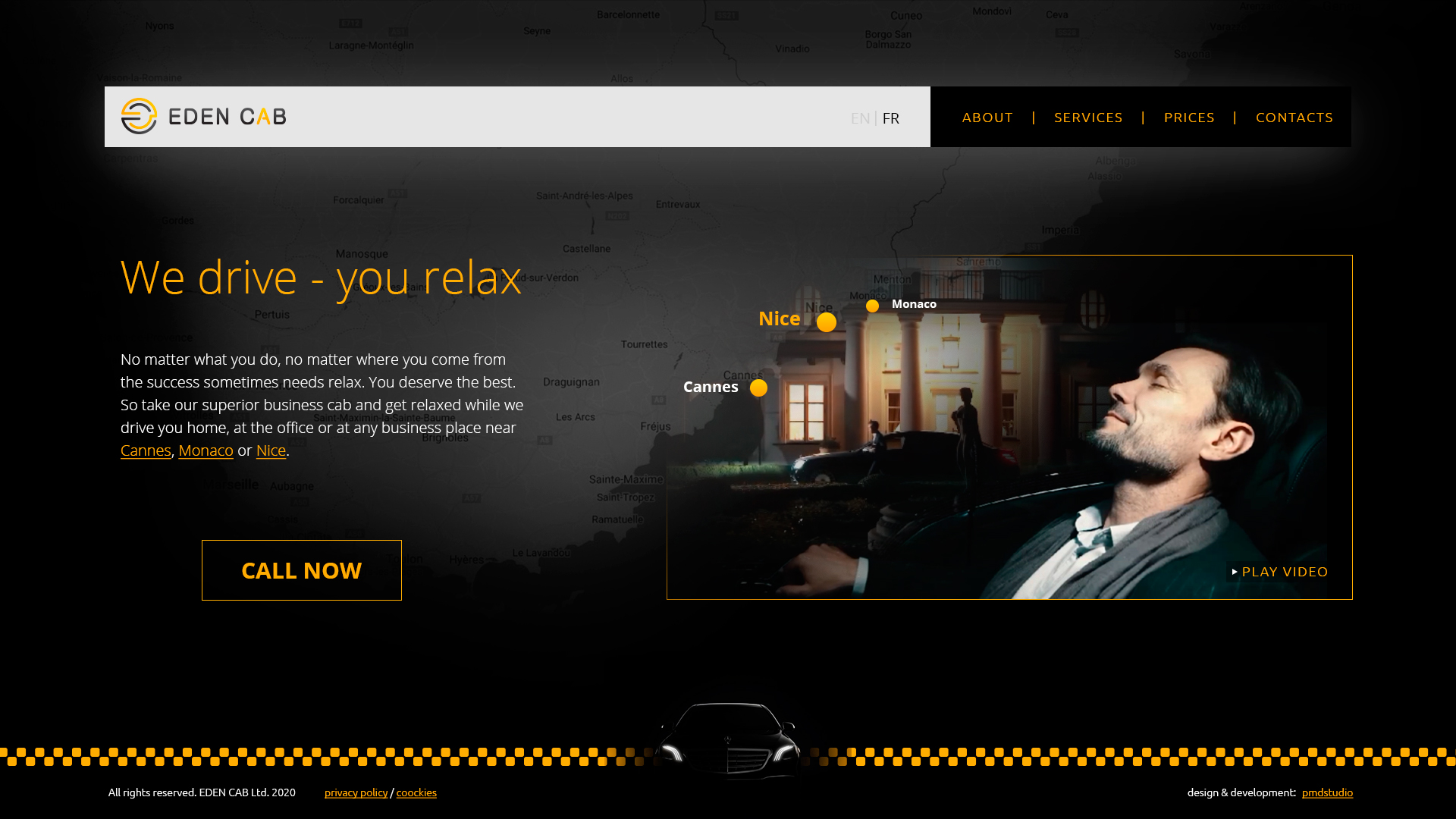 Изработка на атрактивен уеб сайт за EdenCab